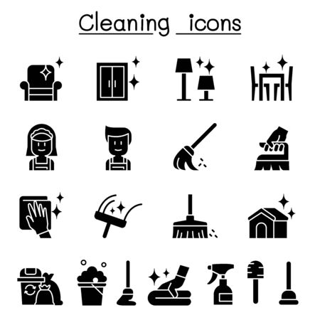 Cleaning & Hygiene icon set