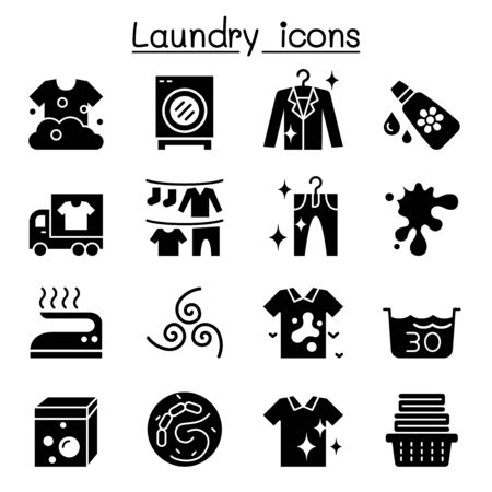 Laundry icon set vector illustration graphic design