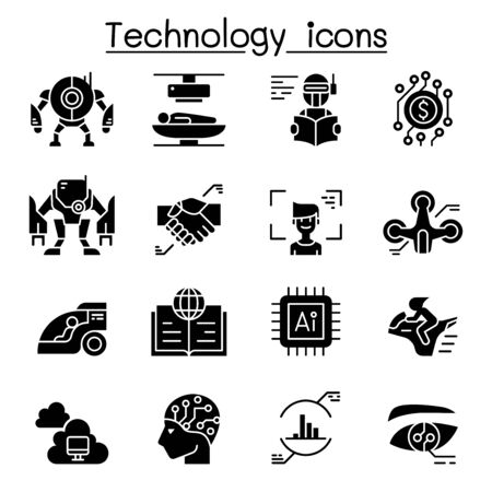 Technology icon set vector illustration graphic design