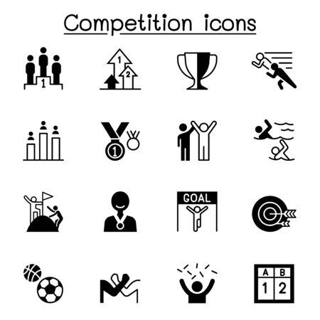 Competition, contest, tournament icons set vector illustration graphic design