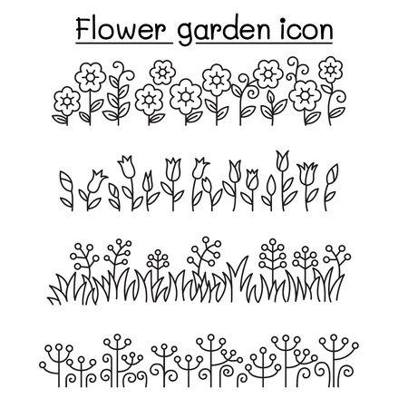 flower garden vector decorative graphic design Vektorgrafik