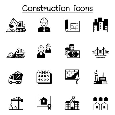 Construction icons set vector illustration graphic design