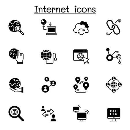 Internet connection icon set vector illustration graphic design
