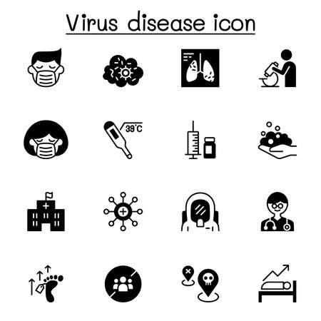 Virus disease icon set vector illustration graphic design