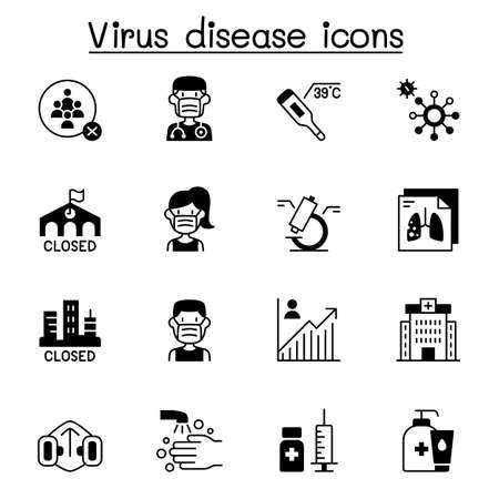 Coronavirus, Covid-19 icon set vector illustration graphic design