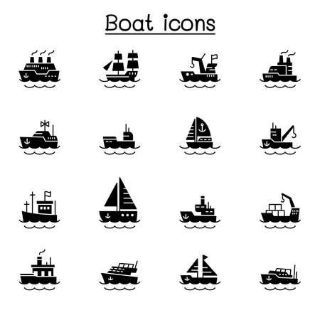 Boat icons vector illustration graphic design 矢量图片