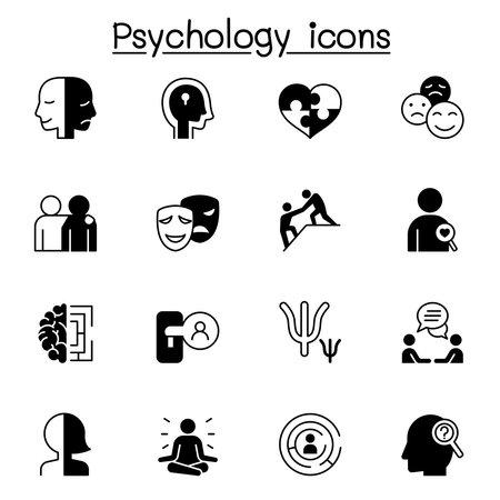 Psychology icons set vector illustration graphic design