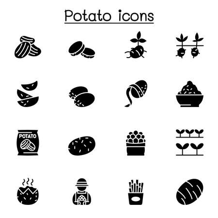 potato icon set vector illustration graphic design