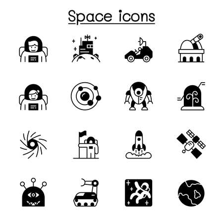 Space icon set vector illustration graphic design