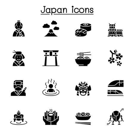 japan icon set vector illustration graphic design