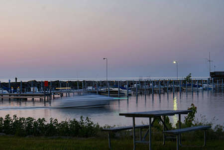 Small marina just after sunset 4 photo