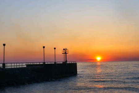 breakwater: Breakwater at sunset