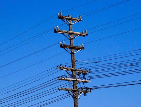 eyesore: Utility Pole Stock Photo