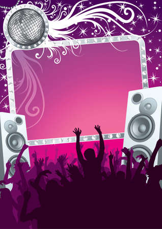 Glamour disco party in the night club Stock Vector - 6602764