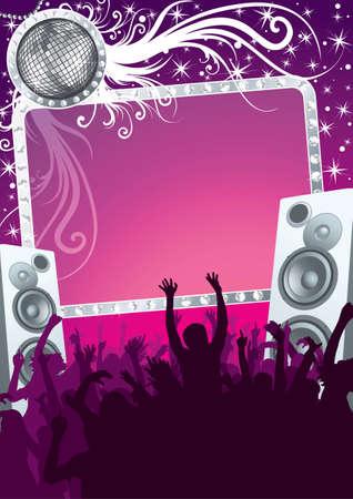 night club: Partido de discoteca de glamour en el club de noche Vectores