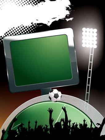 banni�re football: banni�re de stade de football