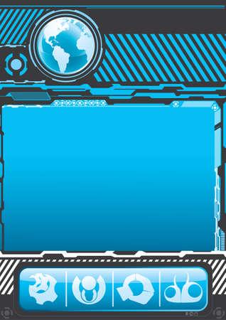 Modern technology background Illustration