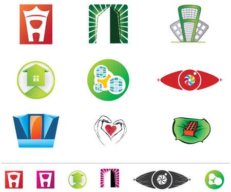 Set of  logos Stock Vector - 6602757