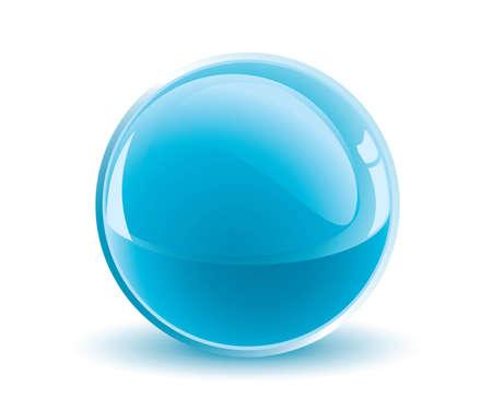 3d  light blue sphere