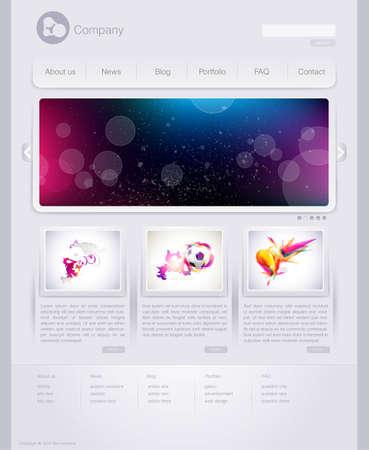 gabarit: Mod�le de conception site web Illustration