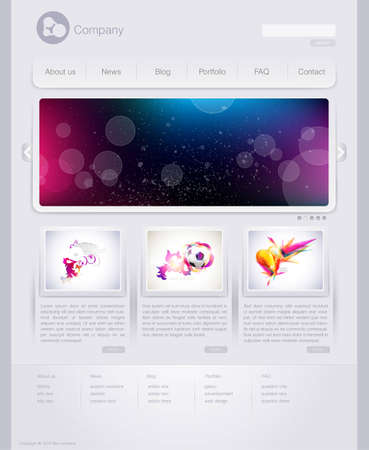 Website design template Vektorové ilustrace