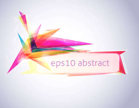Abstract colorful banner Vector