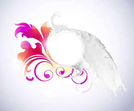 Abstract background with milk splash