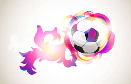 Abstract football background Illustration