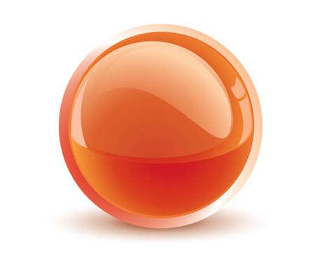 3d vector orange sphere Stock Vector - 9878960