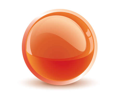 glass sphere: esfera naranja vector 3D