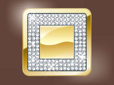 objetos cuadrados: Bot�n de parada de oro