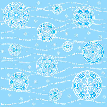 Seamless snowflakes background - Let it snow Stock Vector - 16304244