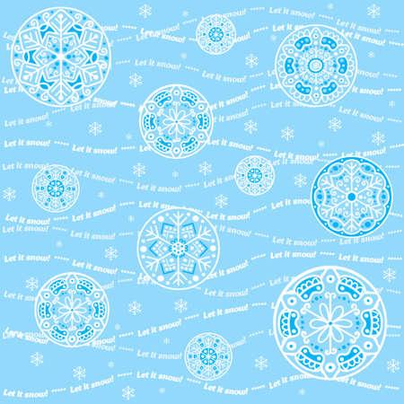 let it snow: Seamless snowflakes background - Let it snow Illustration