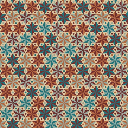 Anise stars seamless vector pattern Stock Vector - 16781255