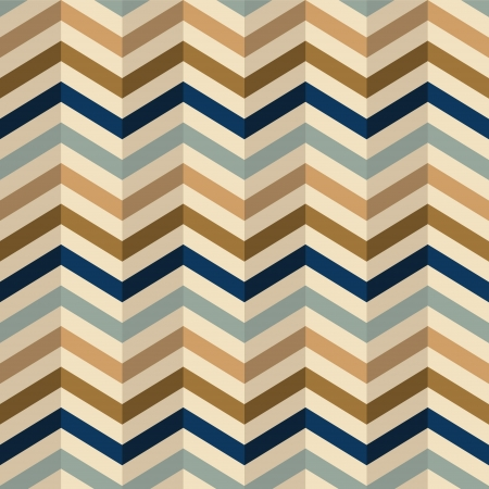 zigzag pattern in retro colors, seamless vector background