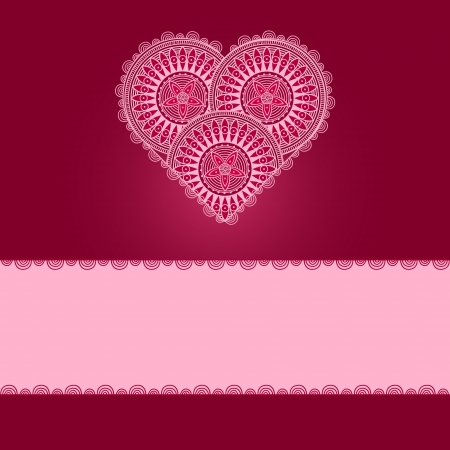 Valentine's Day Card with patterned heart Stock Vector - 16959707