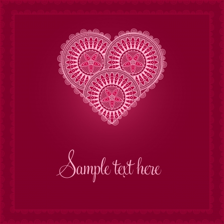 Valentine's Day Card with patterned heart Stock Vector - 16959709