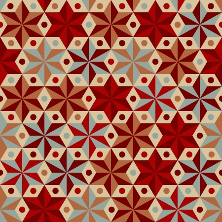 Anise stars seamless pattern in warm colors Vector