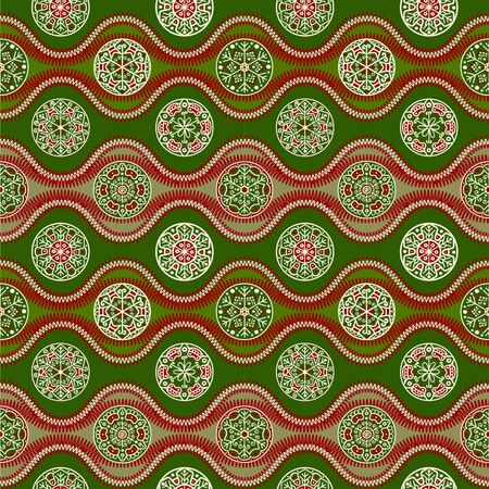 let it snow: Abstract seamless pattern for christmas textile or wrap paper, green