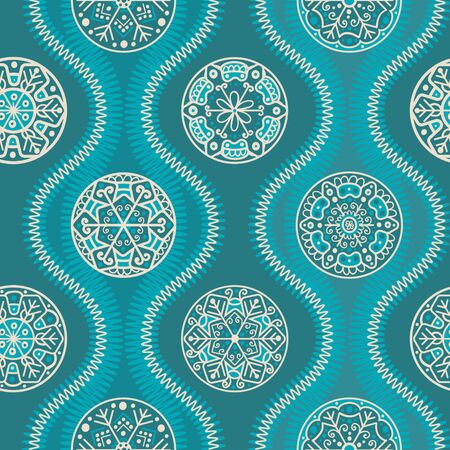 let it snow: Abstract pattern for christmas textile or wrap paper, turquoise