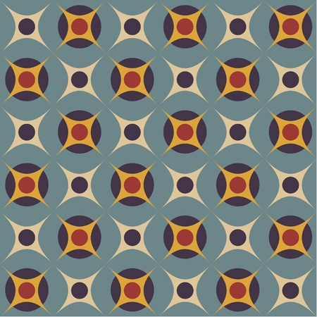 Geometrical pattern in retro colors