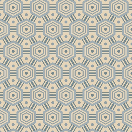 Seamless pattern with hexagons, in retro colors Stock Vector - 17088688