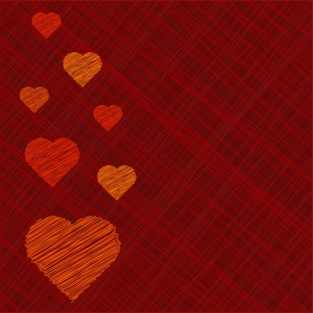 invitation background: Valentines Day Card in scribbled lines Illustration