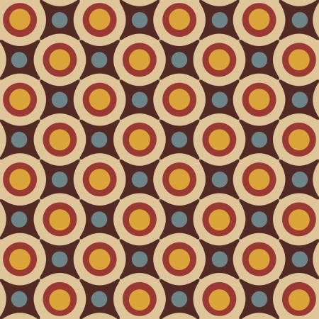 Geometrical pattern in retro colors, seamless vector background Stock Vector - 17164205