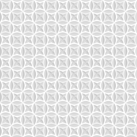 White and grey background, seamless geometrical pattern Vector