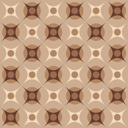 Geometrical pattern in retro colors, seamless vector background