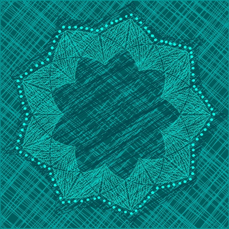 Dackground in emerald colors, with abstract flower and dots Stock Vector - 17542639