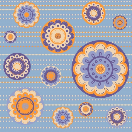 Geometrical pattern with flowers in dust-rose colors, seamless vector background  For fashion textile, cloth, backgrounds