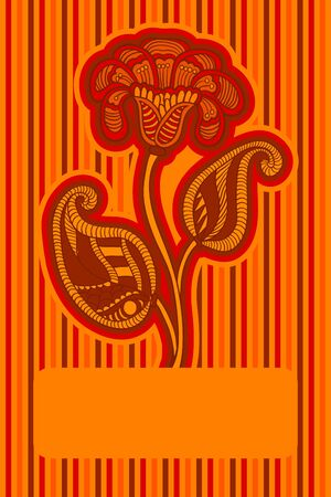 happy birtday: Floral design in orange colors for invitation, greeting card, cover.
