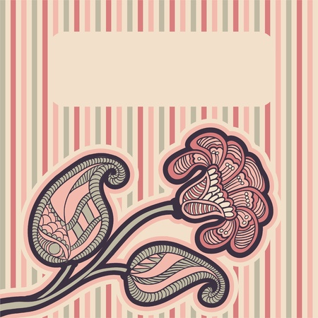 Floral design in soft pink colors for invitation, greeting card, cover
